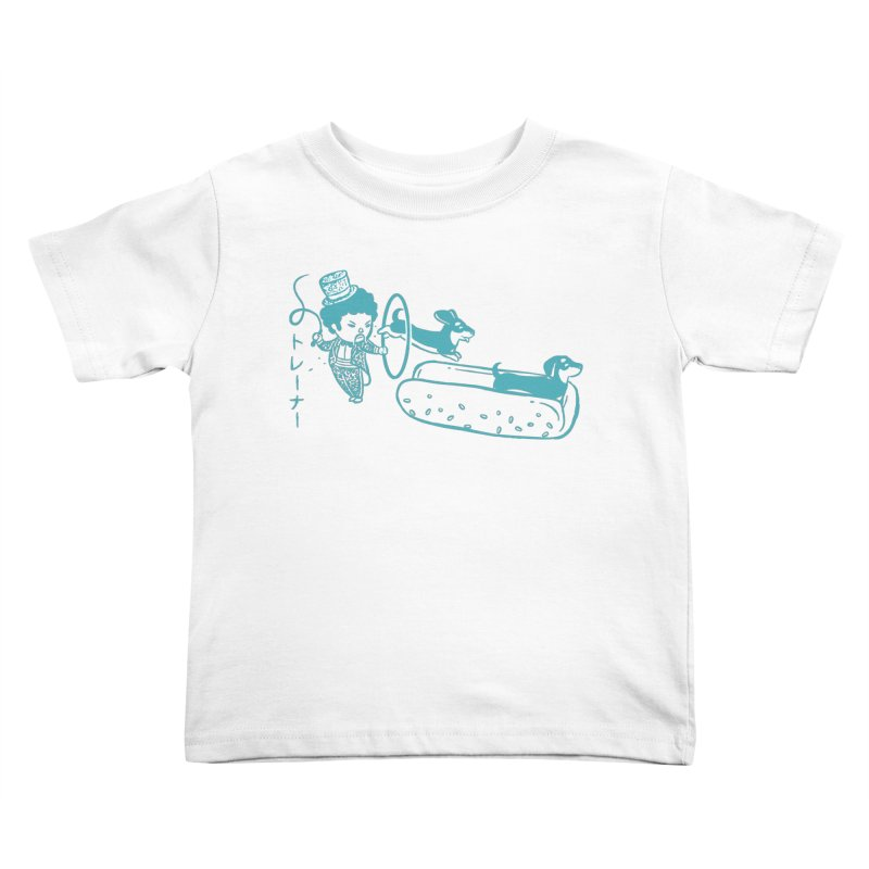 Hot Dog Trainer Kids Toddler T-Shirt by Flying Mouse365
