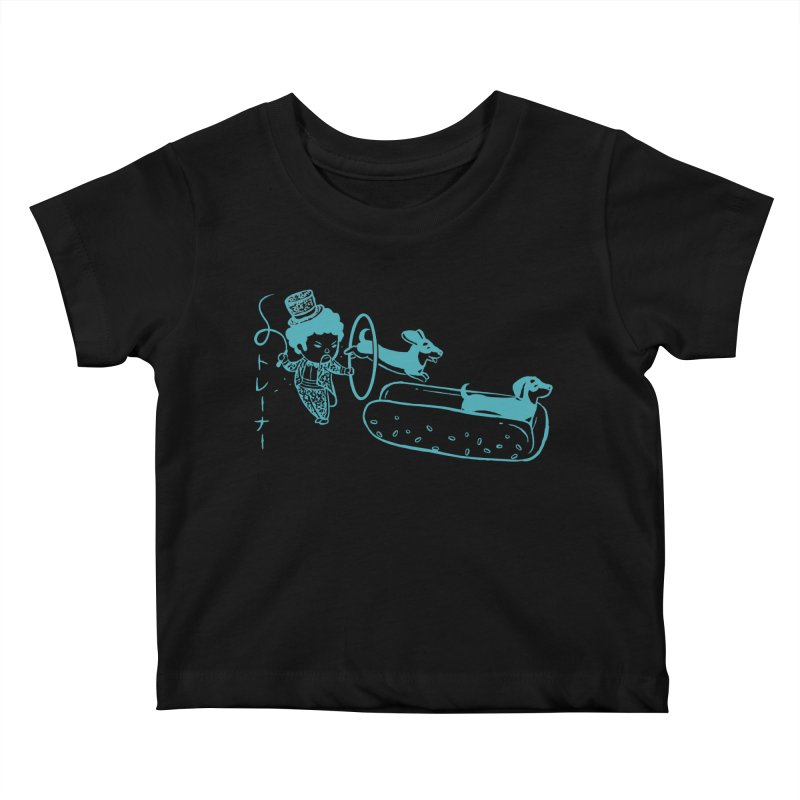 Hot Dog Trainer Kids Baby T-Shirt by Flying Mouse365