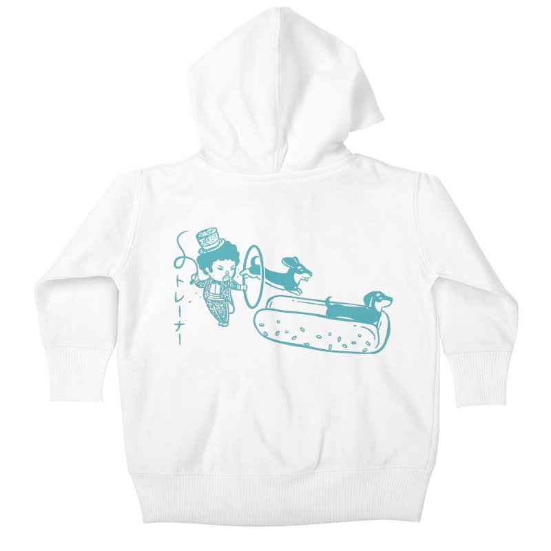 Hot Dog Trainer Kids Baby Zip-Up Hoody by Flying Mouse365