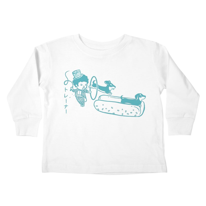 Hot Dog Trainer Kids Toddler Longsleeve T-Shirt by Flying Mouse365