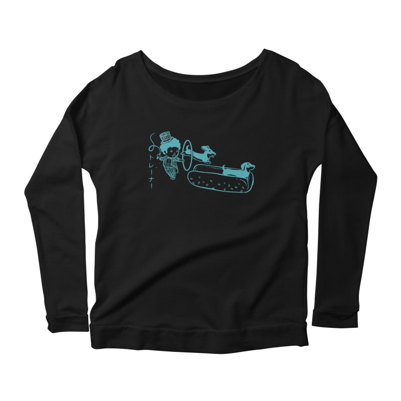 Hot Dog Trainer Women's Longsleeve Scoopneck  by Flying Mouse365