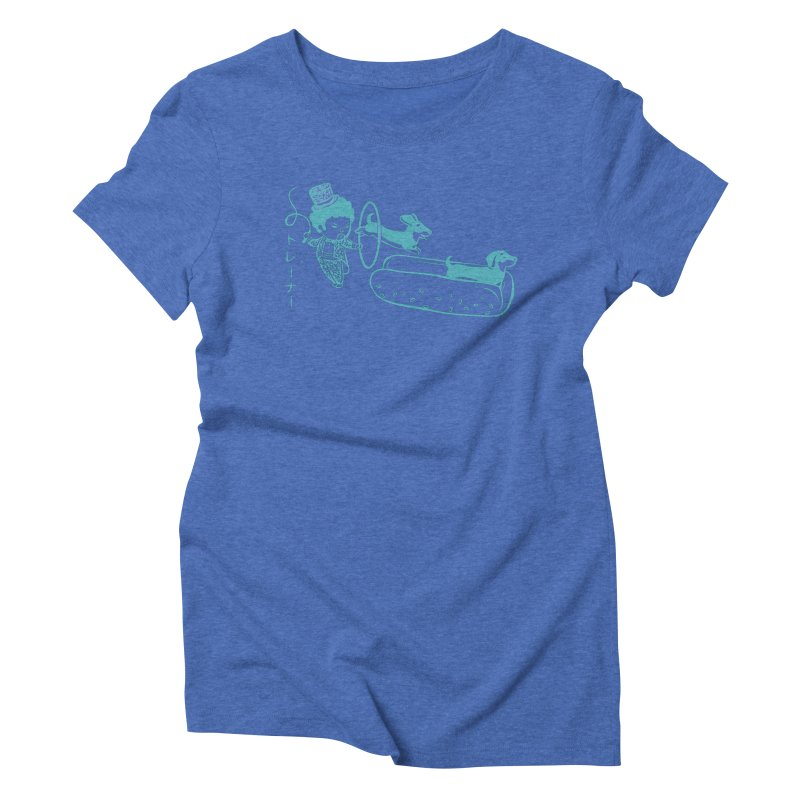 Hot Dog Trainer Women's Triblend T-shirt by Flying Mouse365