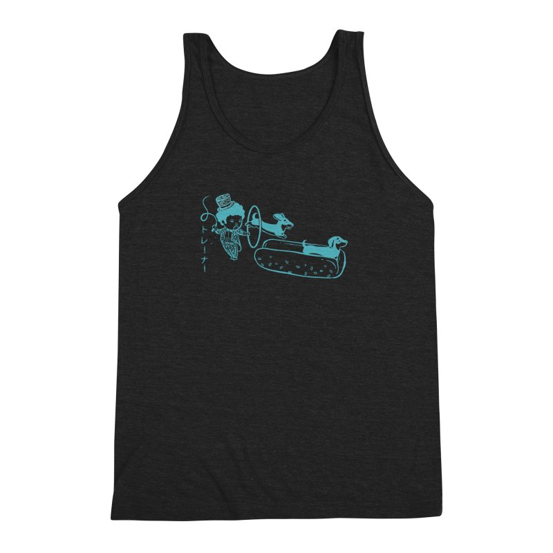 Hot Dog Trainer Men's Triblend Tank by Flying Mouse365