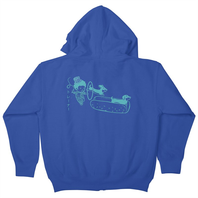 Hot Dog Trainer Kids Zip-Up Hoody by Flying Mouse365