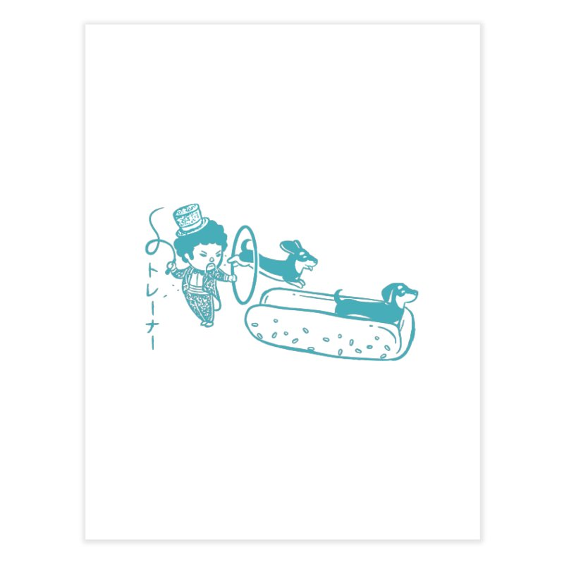 Hot Dog Trainer Home Fine Art Print by Flying Mouse365