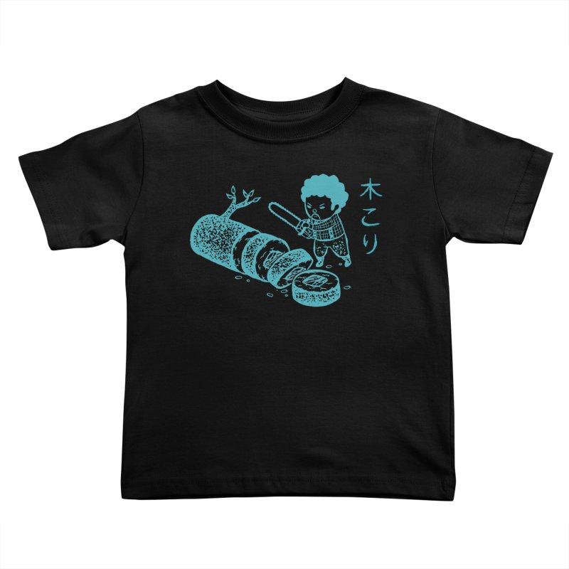 OH MY GOR - Lumberjack Maki Kids Toddler T-Shirt by Flying Mouse365