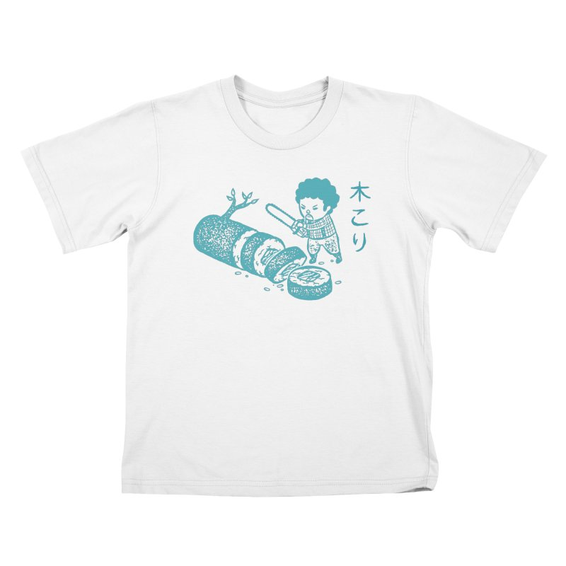 OH MY GOR - Lumberjack Maki Kids T-shirt by Flying Mouse365
