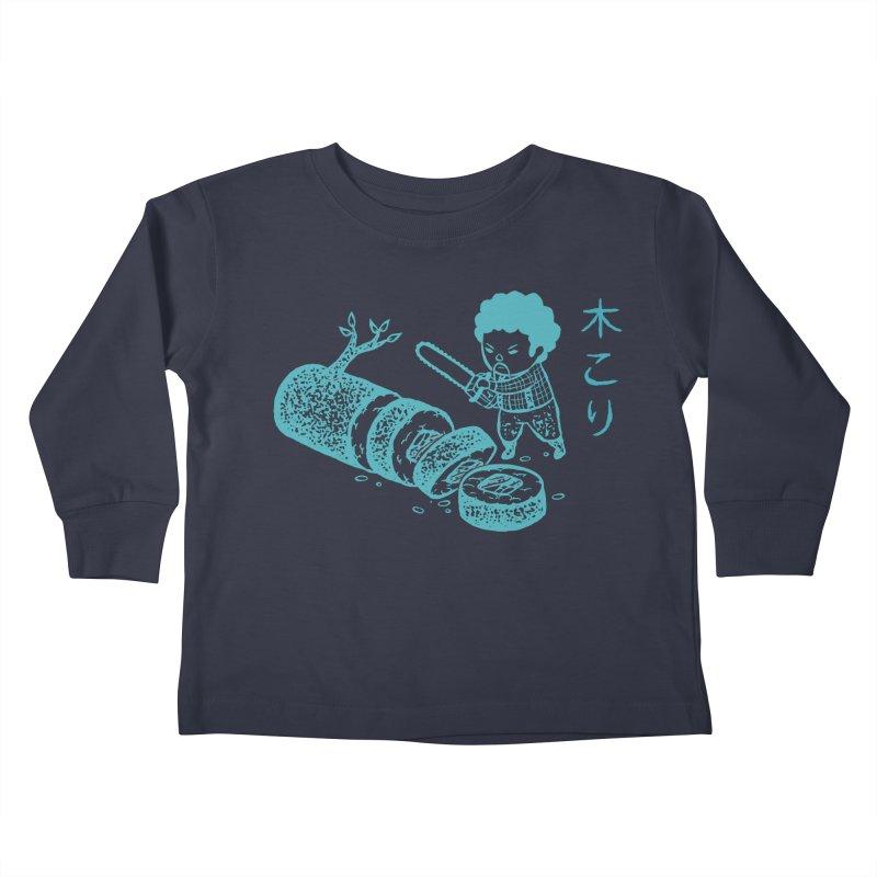 OH MY GOR - Lumberjack Maki Kids Toddler Longsleeve T-Shirt by Flying Mouse365