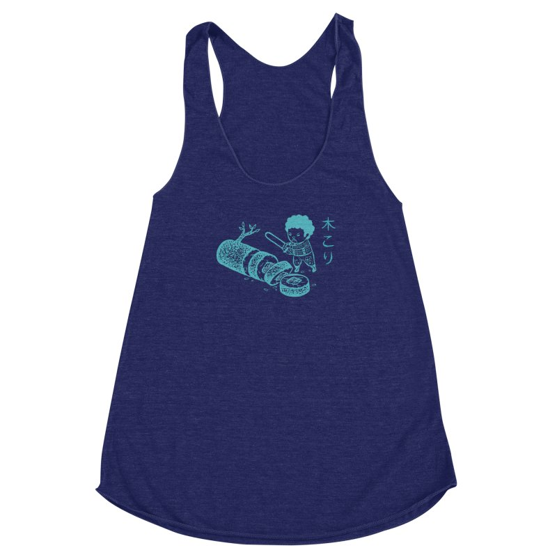 OH MY GOR - Lumberjack Maki Women's Racerback Triblend Tank by Flying Mouse365