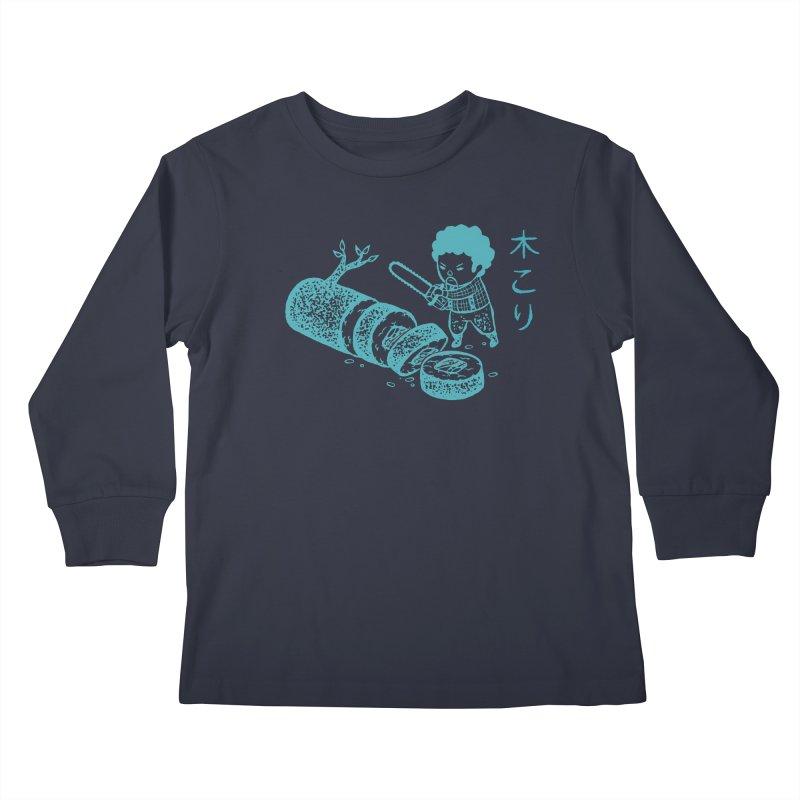 OH MY GOR - Lumberjack Maki Kids Longsleeve T-Shirt by Flying Mouse365