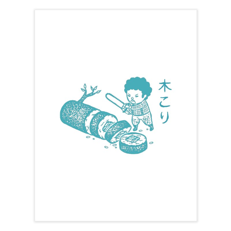 OH MY GOR - Lumberjack Maki Home Fine Art Print by Flying Mouse365