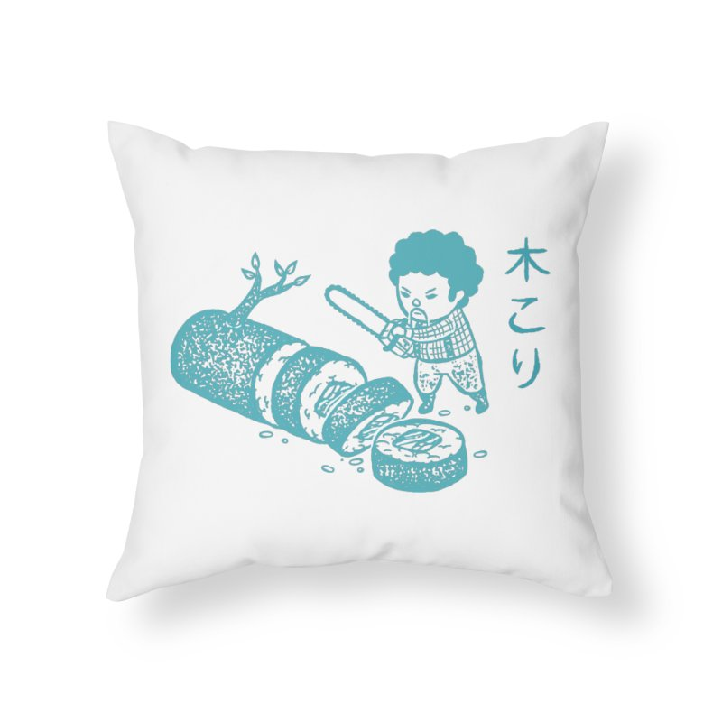OH MY GOR - Lumberjack Maki Home Throw Pillow by Flying Mouse365