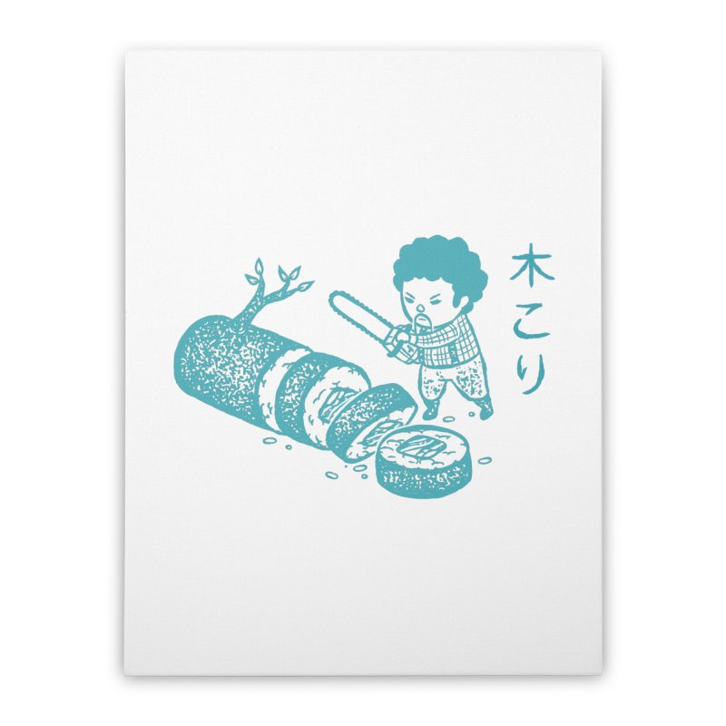 OH MY GOR - Lumberjack Maki Home Stretched Canvas by Flying Mouse365