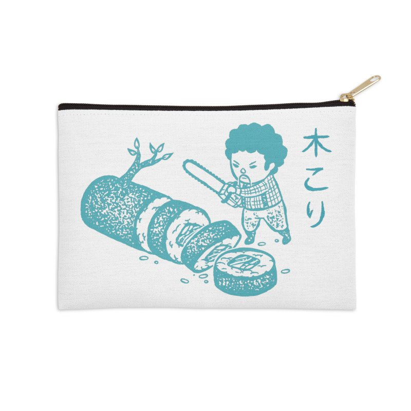 OH MY GOR - Lumberjack Maki Accessories Zip Pouch by Flying Mouse365