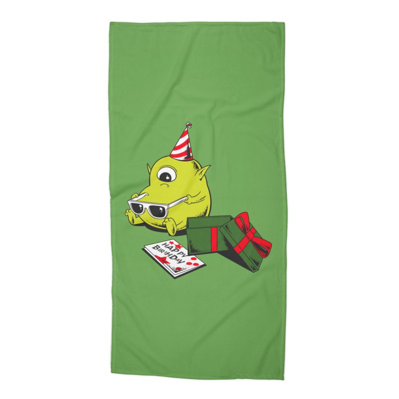 Memorable Birthday Gift Accessories Beach Towel by Flying Mouse365