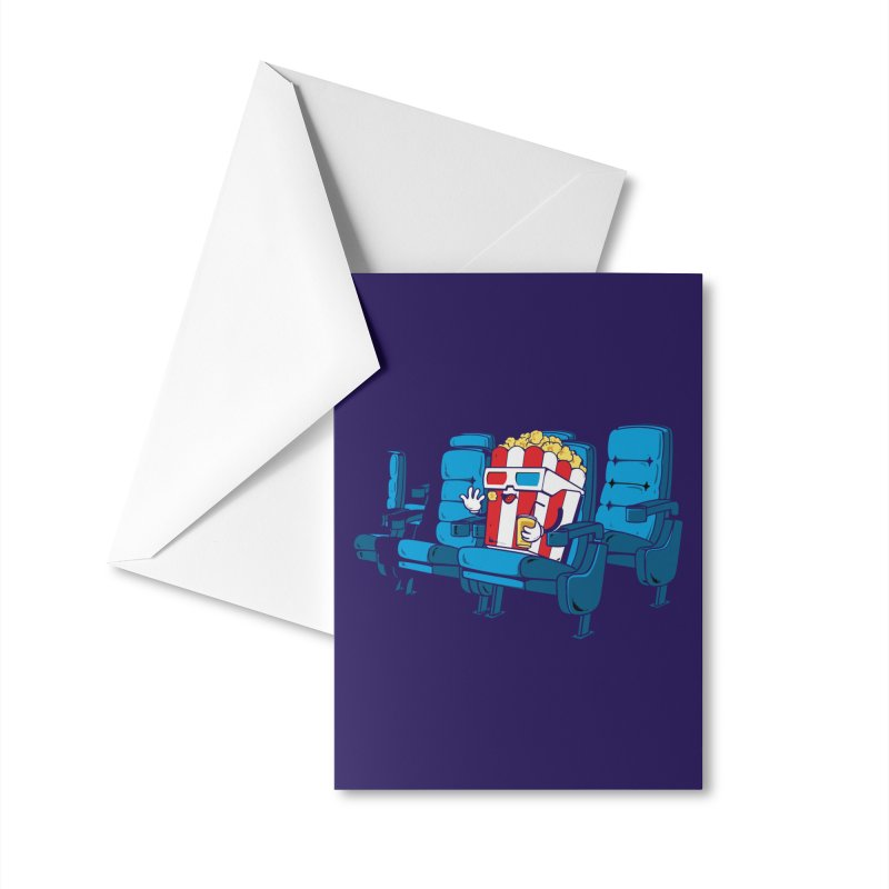 Movie Time Accessories Greeting Card by Flying Mouse365
