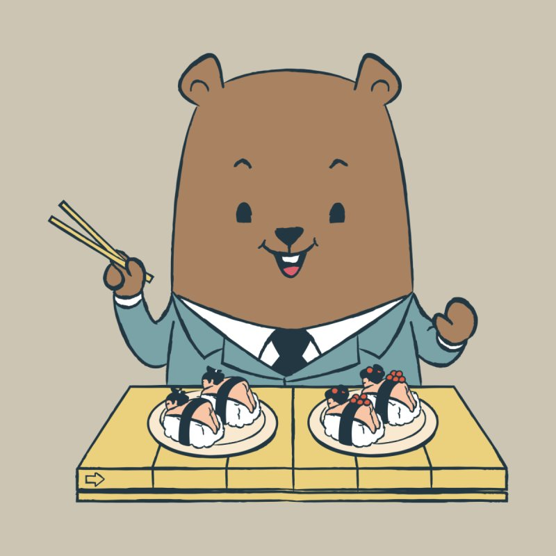 EDDIE TEDDY - Sushi Lover None  by Flying Mouse365
