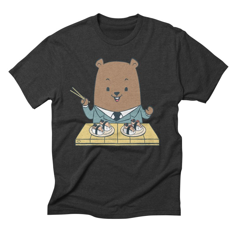 EDDIE TEDDY - Sushi Lover Men's Triblend T-shirt by Flying Mouse365