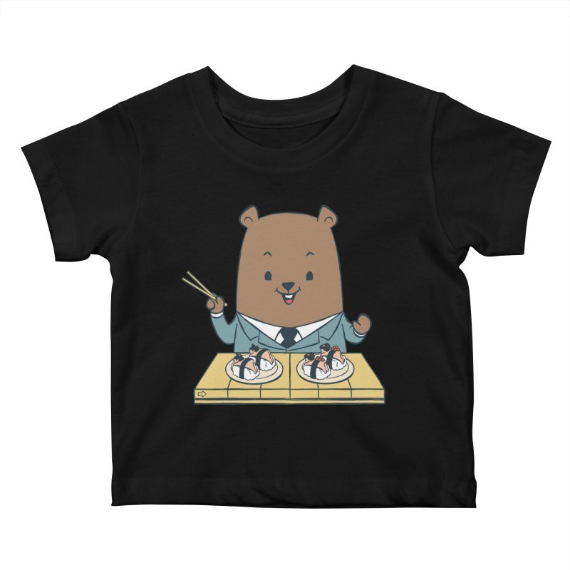 EDDIE TEDDY - Sushi Lover Kids Baby T-Shirt by Flying Mouse365