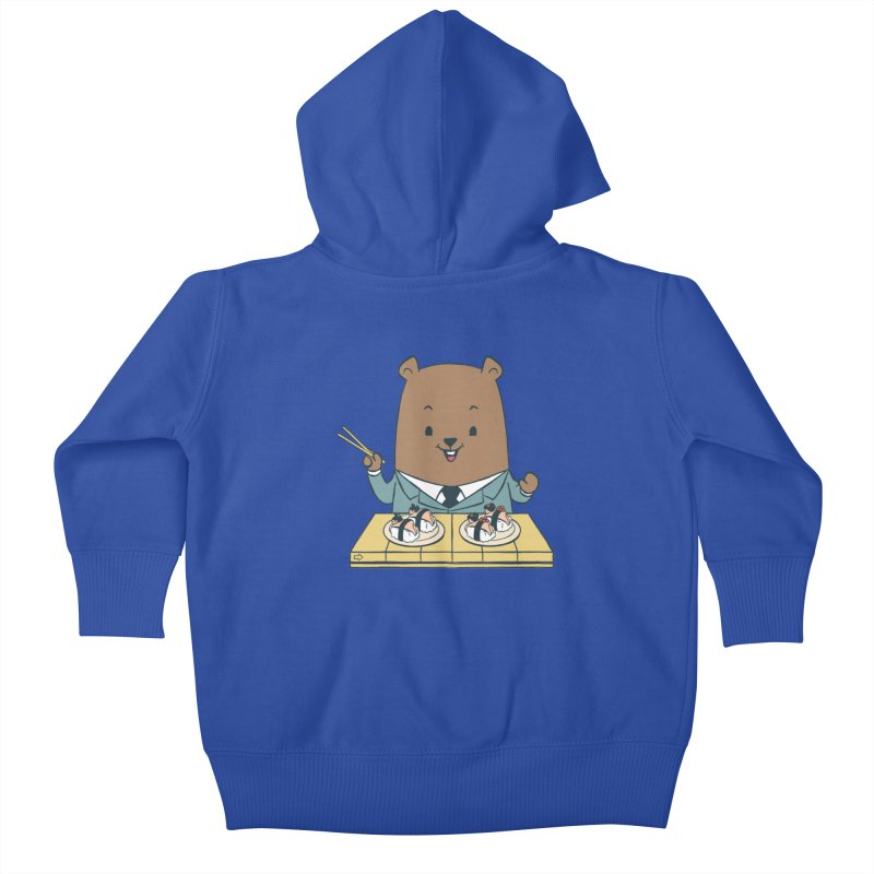 EDDIE TEDDY - Sushi Lover Kids Baby Zip-Up Hoody by Flying Mouse365