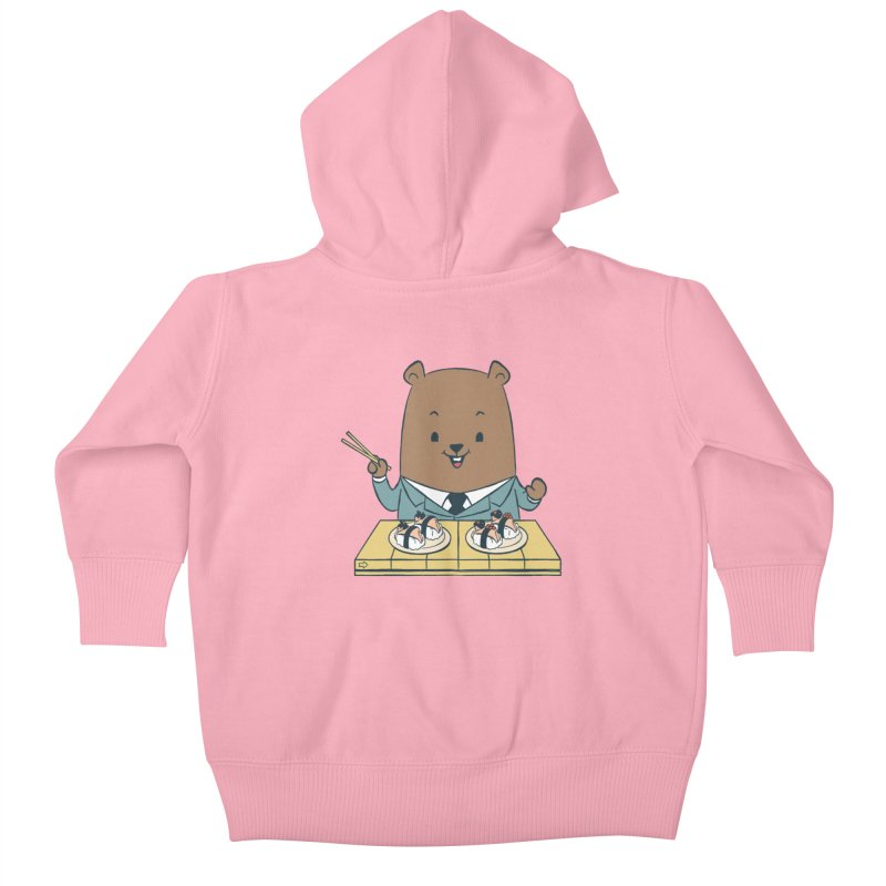 EDDIE TEDDY - Sushi Lover Kids Baby Zip-Up Hoody by Flying Mouse365