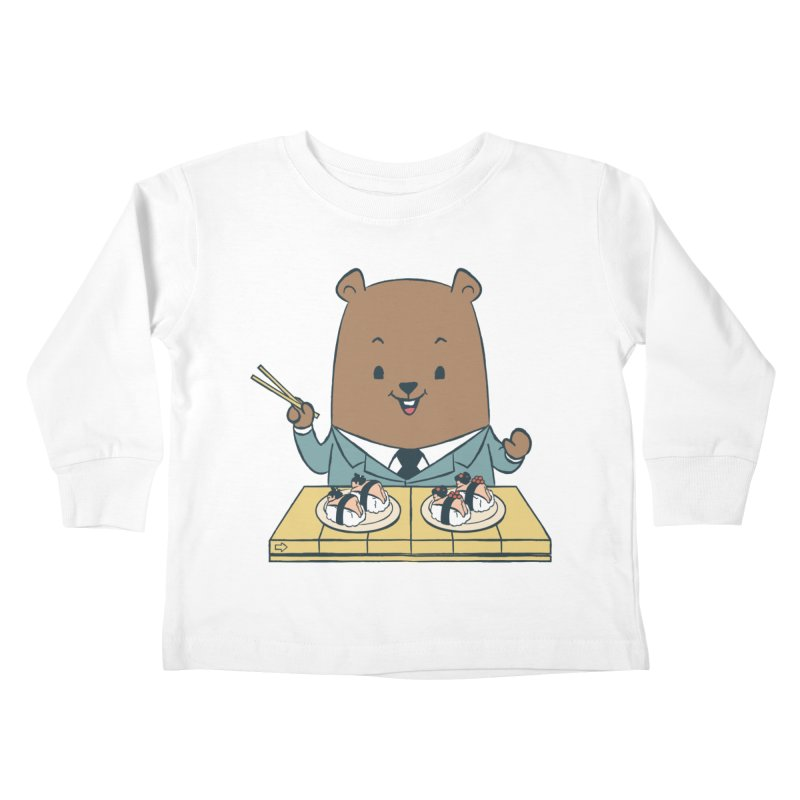 EDDIE TEDDY - Sushi Lover Kids Toddler Longsleeve T-Shirt by Flying Mouse365