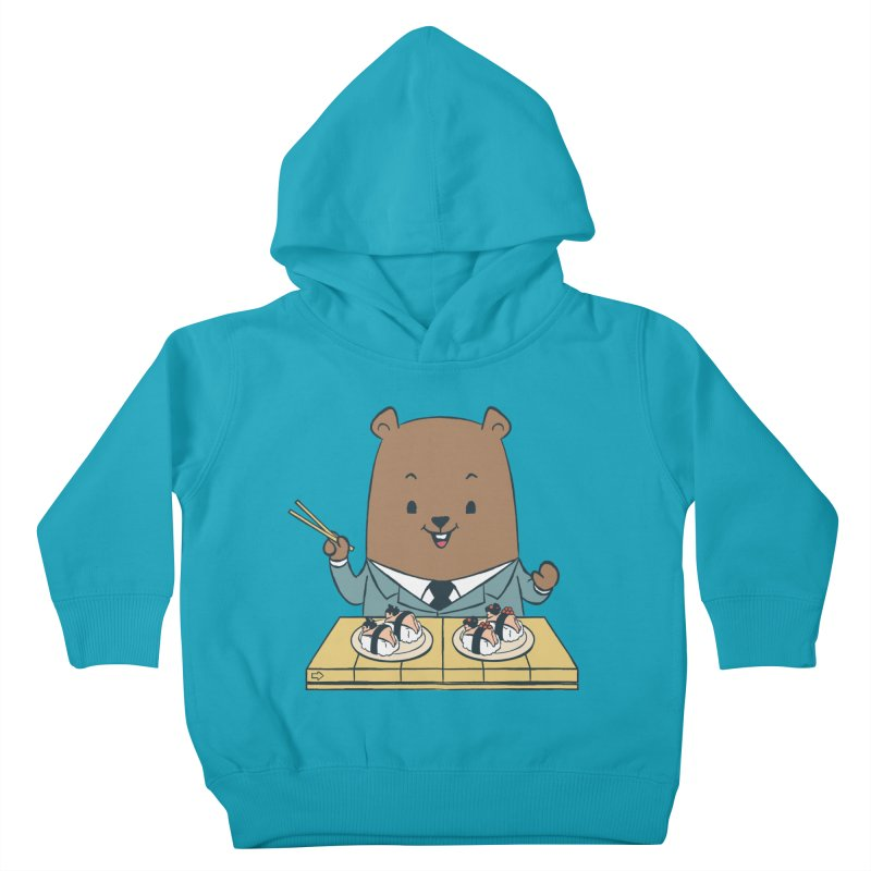 EDDIE TEDDY - Sushi Lover Kids Toddler Pullover Hoody by Flying Mouse365