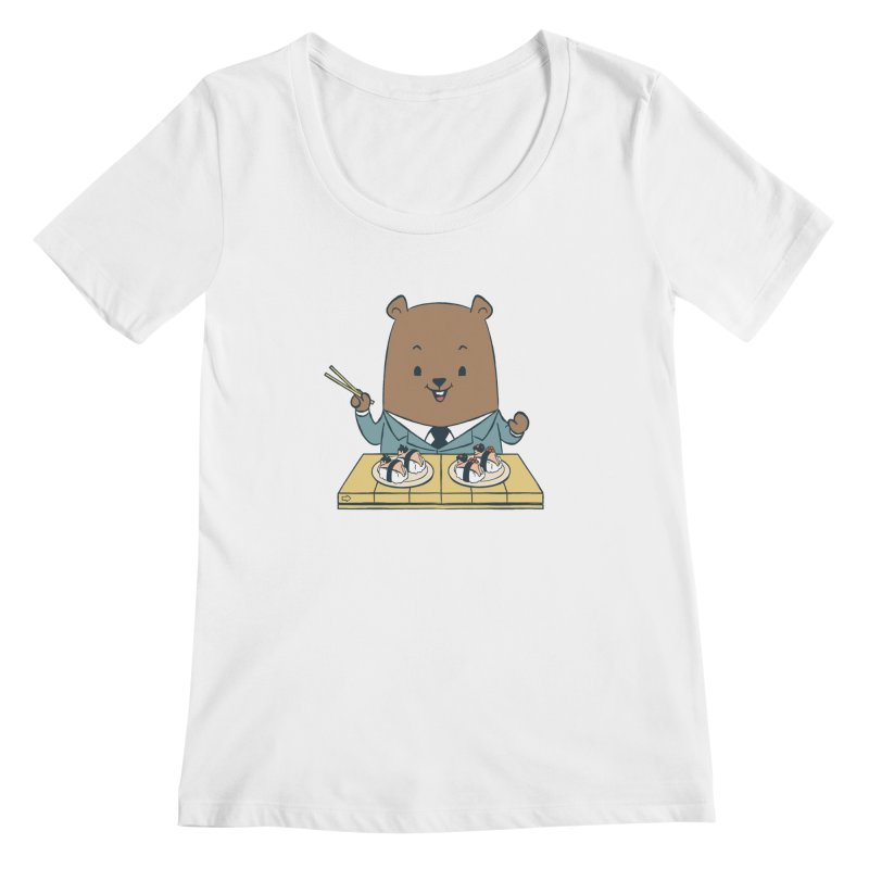 EDDIE TEDDY - Sushi Lover Women's Scoopneck by Flying Mouse365