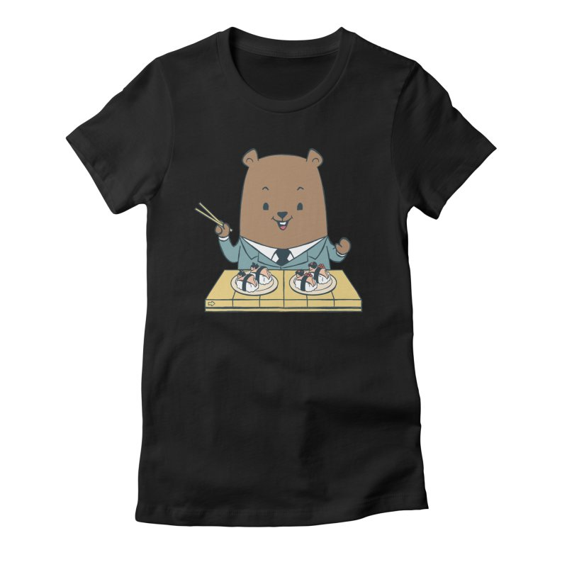 EDDIE TEDDY - Sushi Lover Women's Fitted T-Shirt by Flying Mouse365