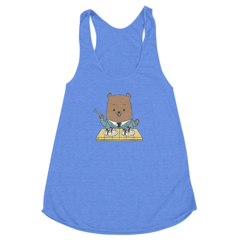 EDDIE TEDDY - Sushi Lover Women's Racerback Triblend Tank by Flying Mouse365