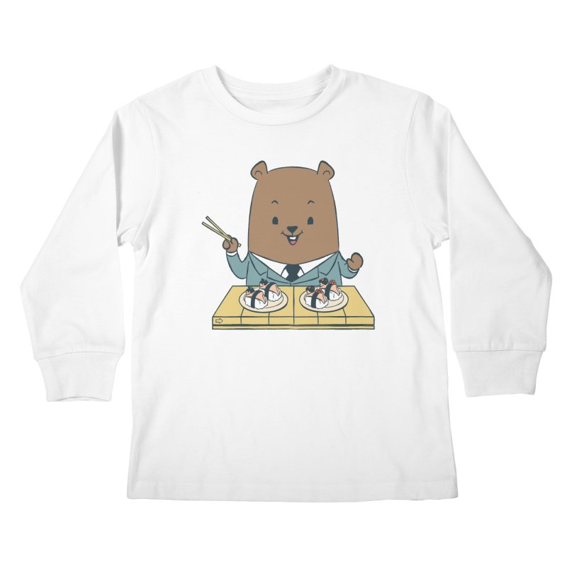 EDDIE TEDDY - Sushi Lover Kids Longsleeve T-Shirt by Flying Mouse365