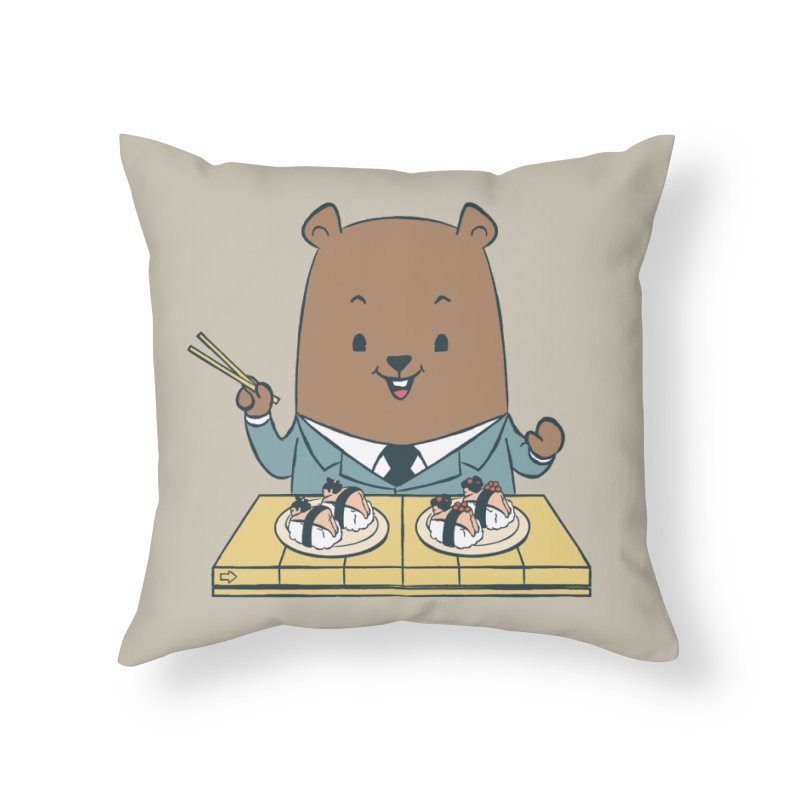 EDDIE TEDDY - Sushi Lover Home Throw Pillow by Flying Mouse365