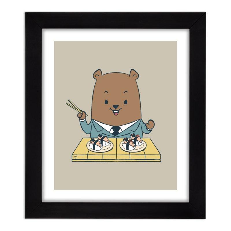 EDDIE TEDDY - Sushi Lover Home Framed Fine Art Print by Flying Mouse365