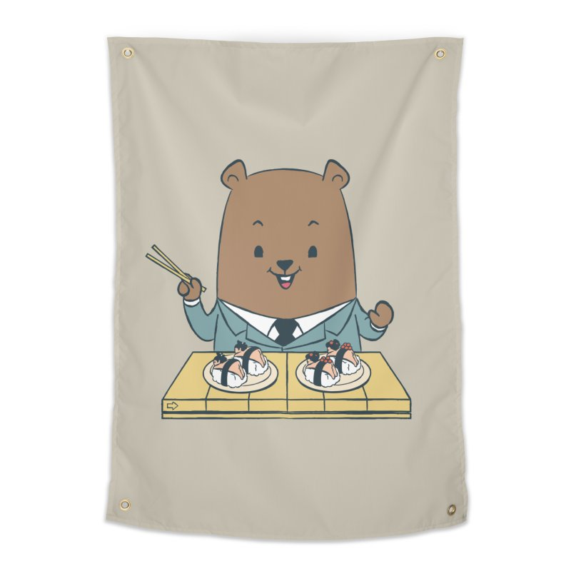 EDDIE TEDDY - Sushi Lover Home Tapestry by Flying Mouse365