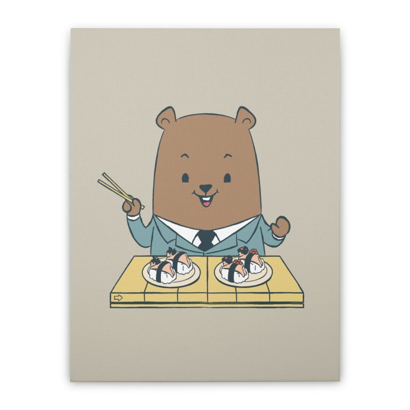 EDDIE TEDDY - Sushi Lover Home Stretched Canvas by Flying Mouse365