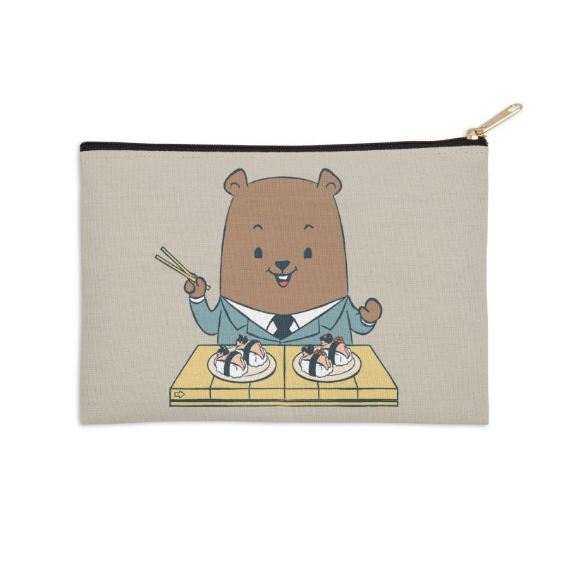 EDDIE TEDDY - Sushi Lover Accessories Zip Pouch by Flying Mouse365