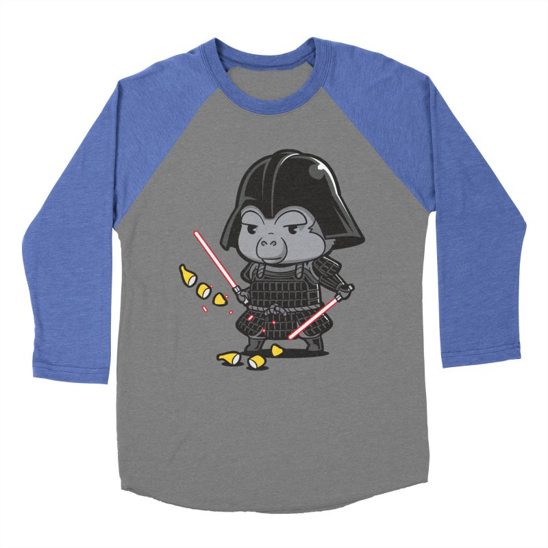 Samurai Dark Women's Baseball Triblend T-Shirt by Flying Mouse365