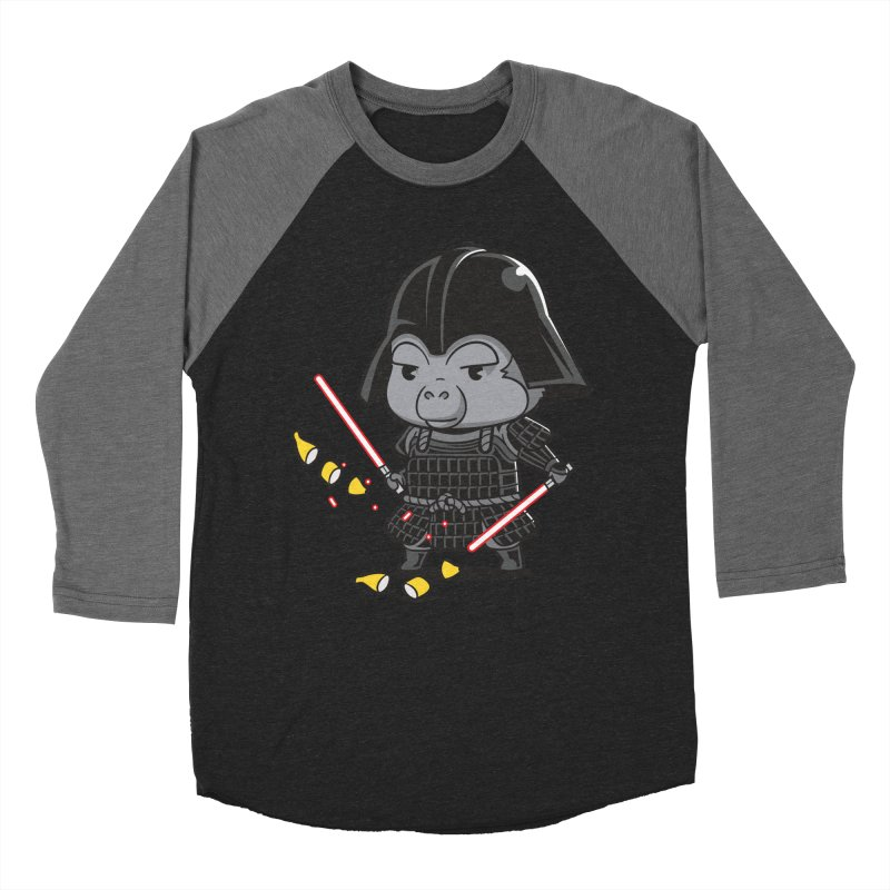 Samurai Dark Women's Baseball Triblend Longsleeve T-Shirt by Flying Mouse365