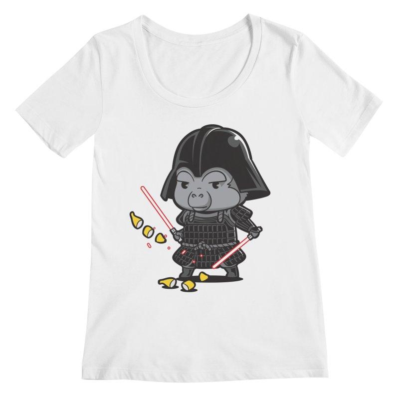 Samurai Dark Women's Regular Scoop Neck by Flying Mouse365