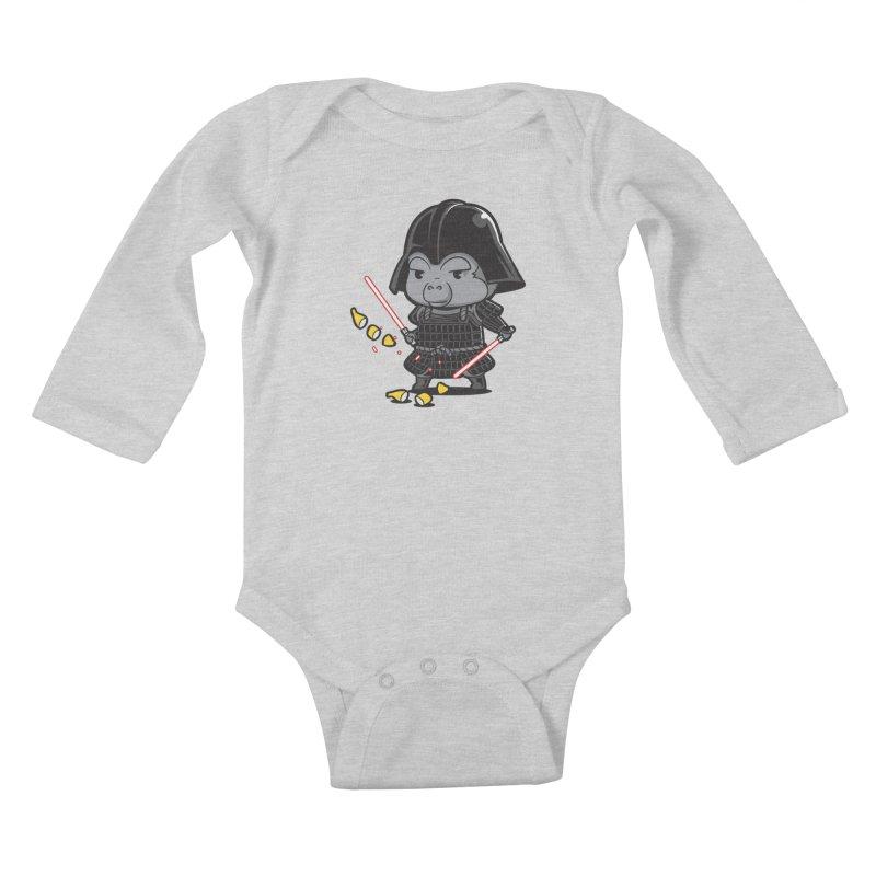 Samurai Dark Kids Baby Longsleeve Bodysuit by Flying Mouse365