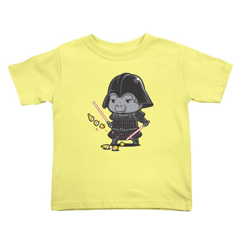 Samurai Dark Kids Toddler T-Shirt by Flying Mouse365