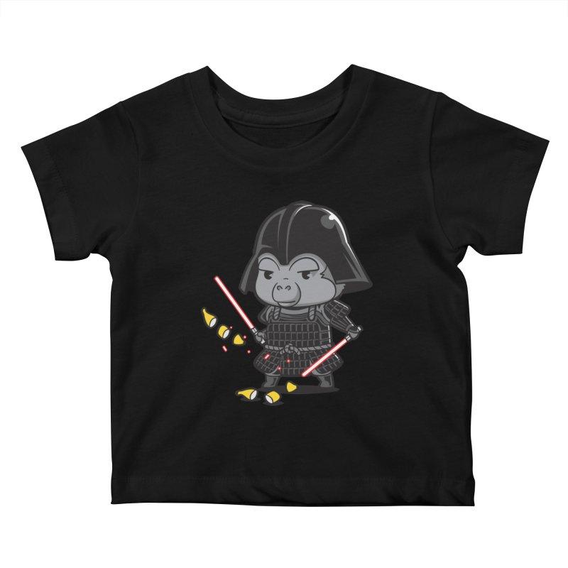 Samurai Dark Kids Baby T-Shirt by Flying Mouse365