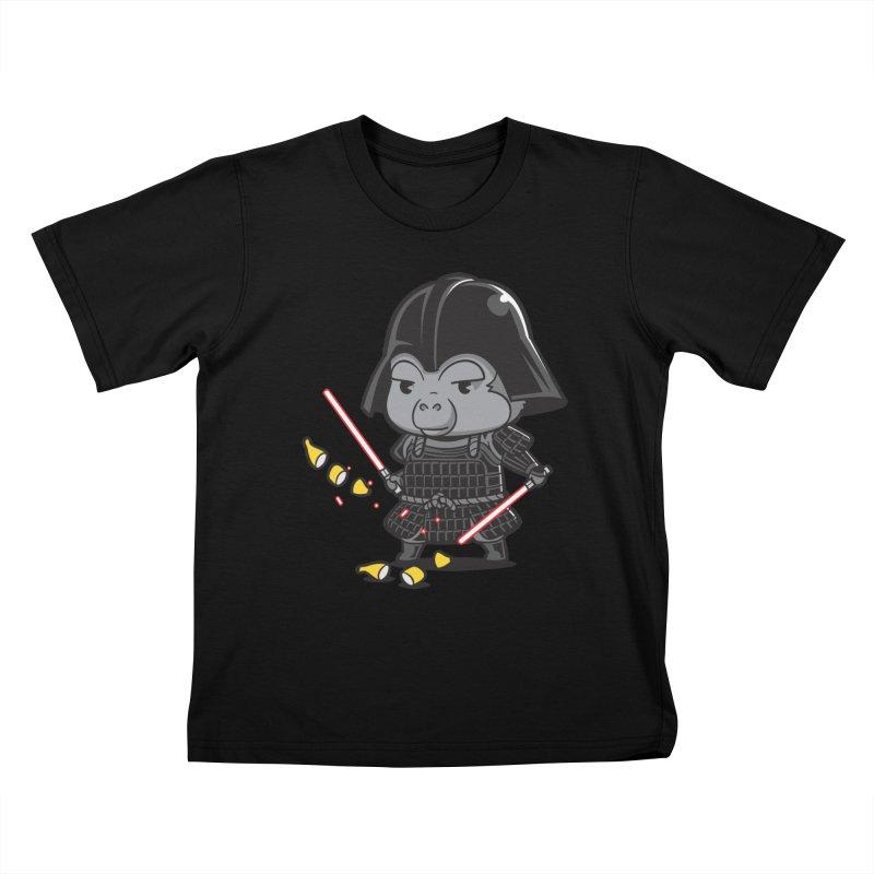 Samurai Dark Kids T-shirt by Flying Mouse365