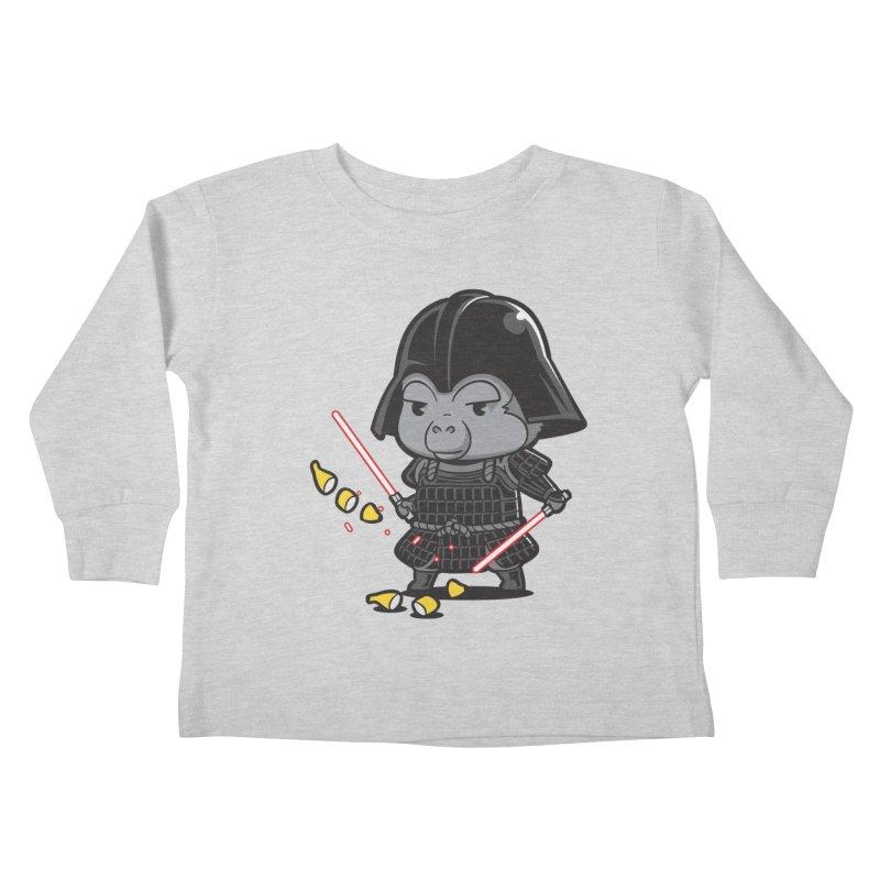 Samurai Dark Kids Toddler Longsleeve T-Shirt by Flying Mouse365