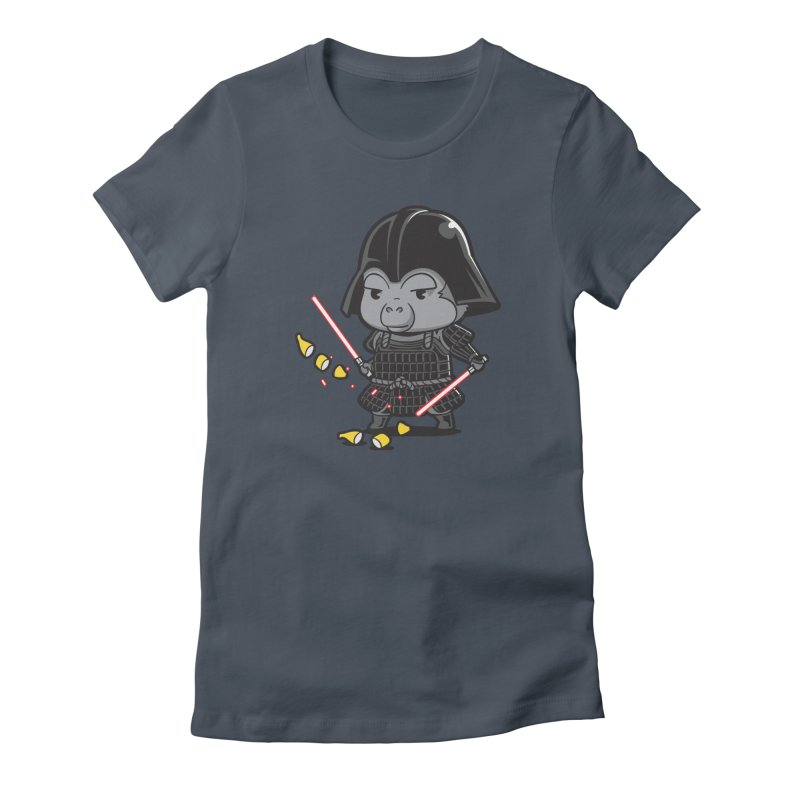 Samurai Dark Women's French Terry Zip-Up Hoody by Flying Mouse365