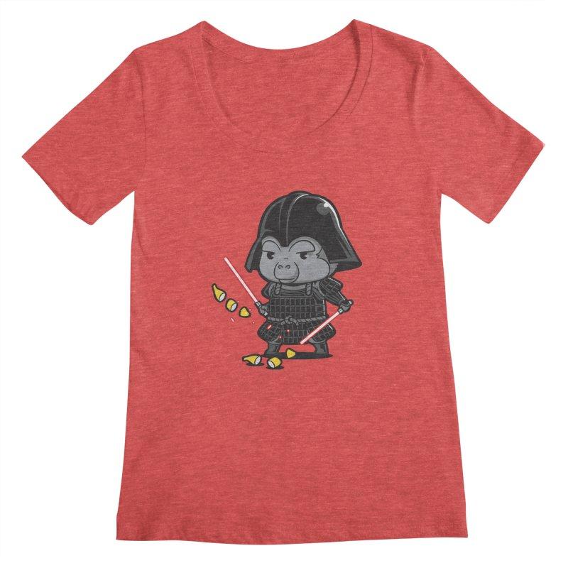 Samurai Dark Women's Scoopneck by Flying Mouse365