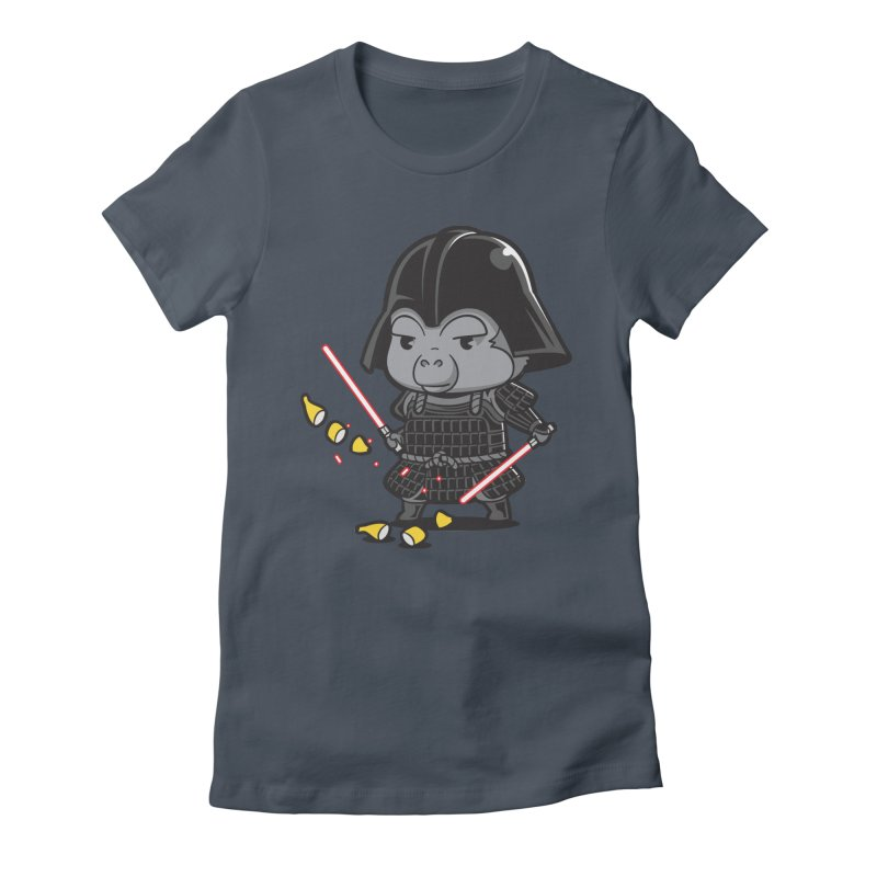 Samurai Dark Women's Fitted T-Shirt by Flying Mouse365