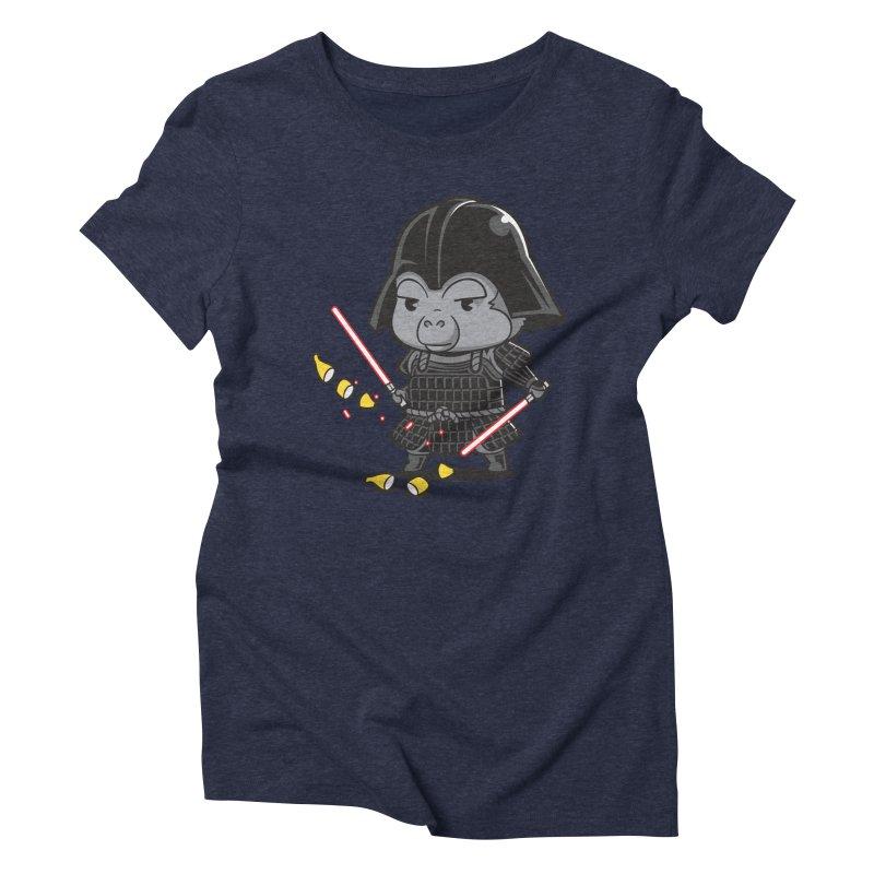 Samurai Dark Women's Triblend T-shirt by Flying Mouse365