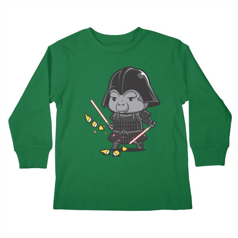 Samurai Dark Kids Longsleeve T-Shirt by Flying Mouse365