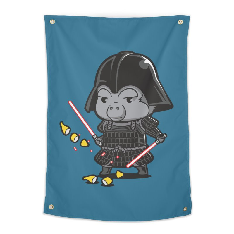 Samurai Dark Home Tapestry by Flying Mouse365